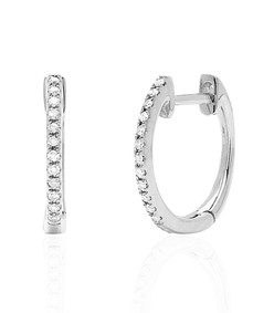 diamond mini huggie earrings