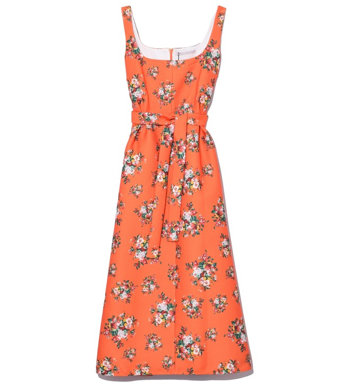shaina dress in orange rose tile