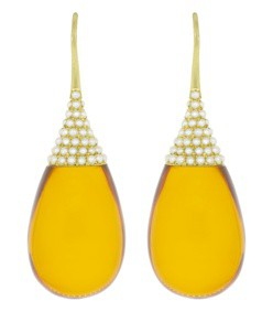 akyoa pearls on amber teardrop earrings