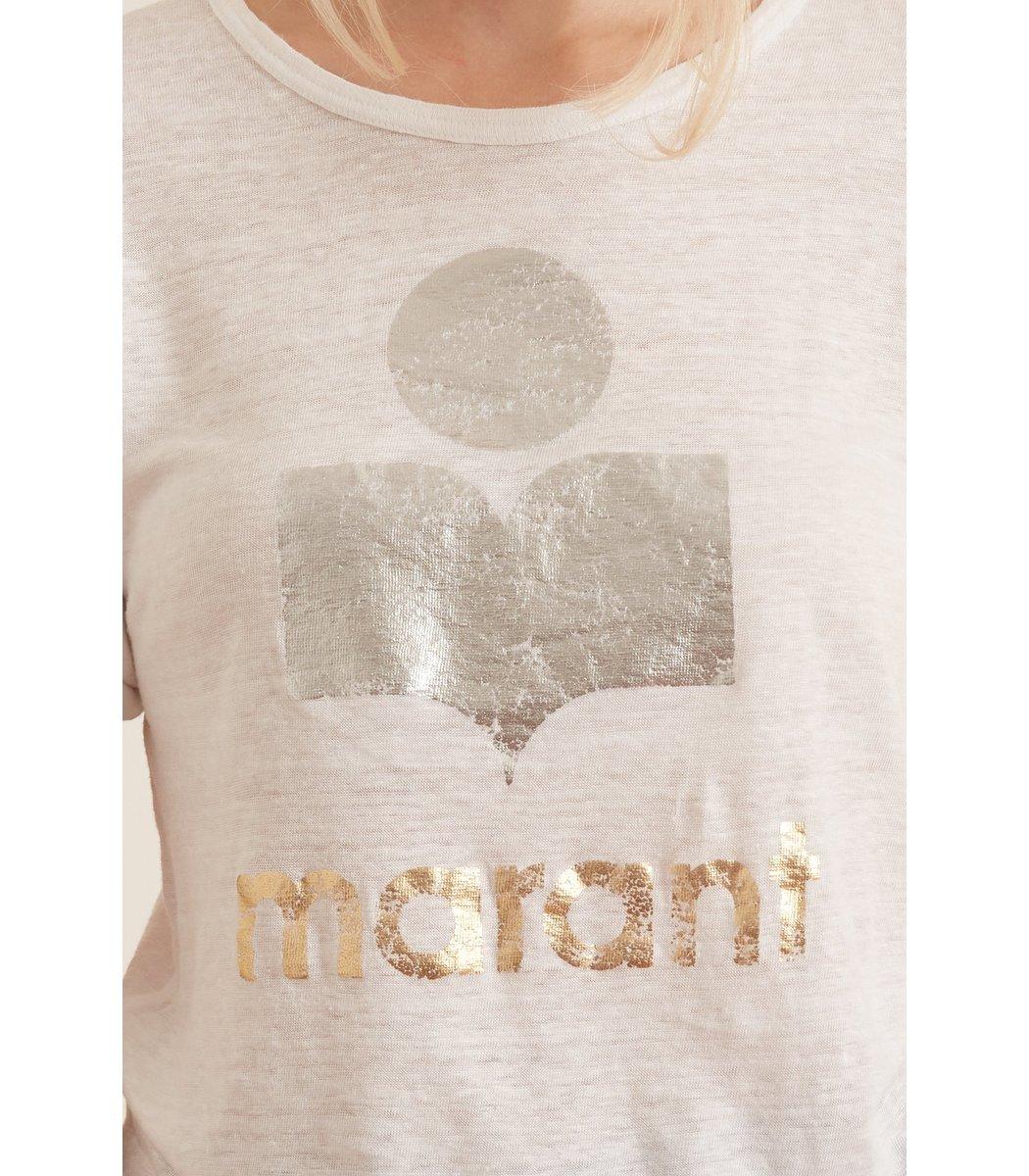ISABEL MARANT ÉTOILE Denims Koldi Shiny Tee Shirt in White