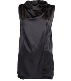 silk cowl neck blouse