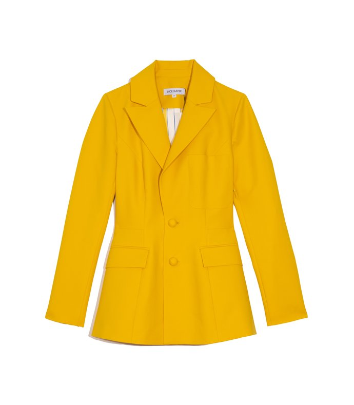 patch pocket blazer in yellow