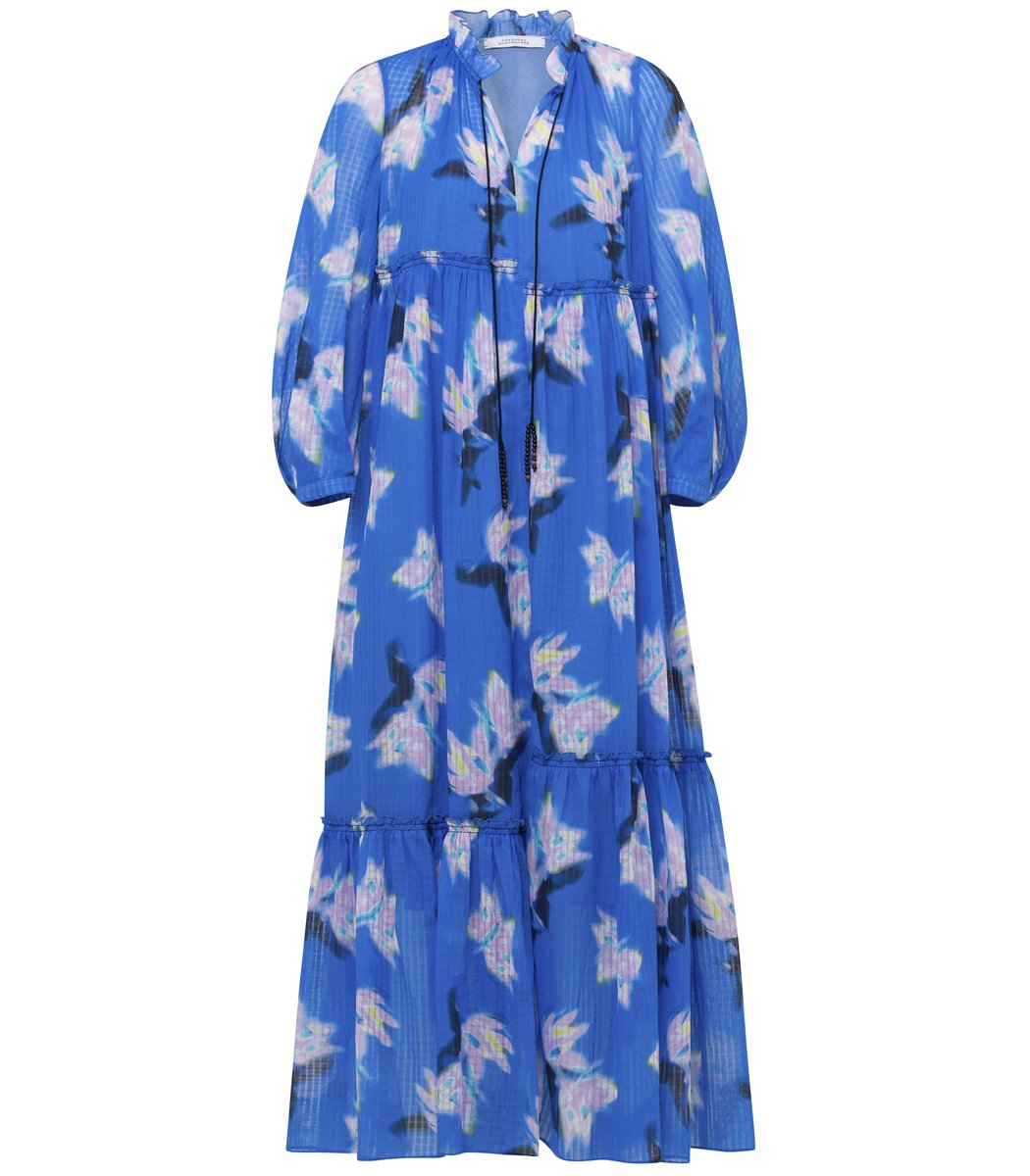 Dorothee Schumacher Energetic Mix Dress in Blue Blurry Flora