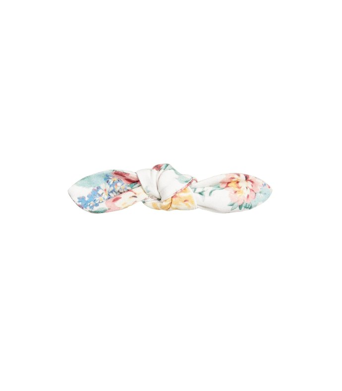 sadie bow barrette in white multi floral