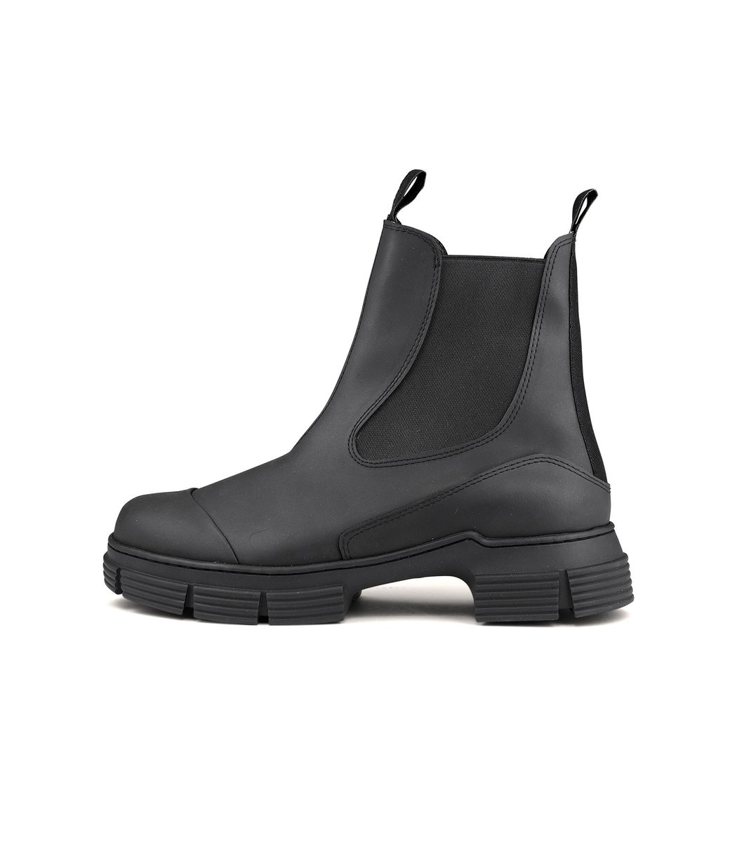 Ganni Recycled Rubber Boot in Black