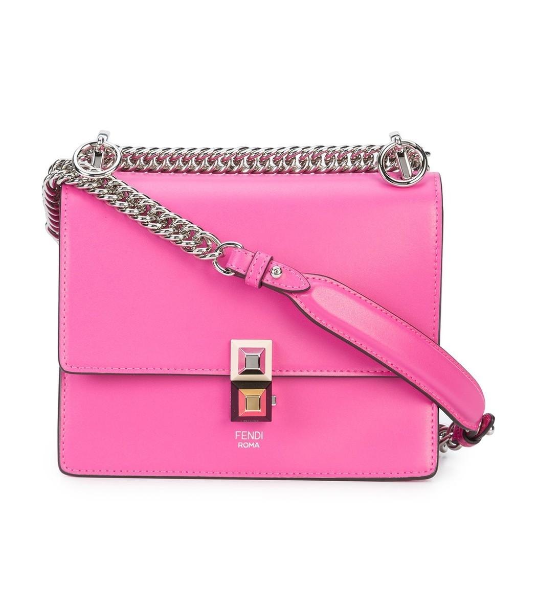 44ff6c6913 ... store fendi kan i small shoulder bag pink leather bag 6beeb 40e21