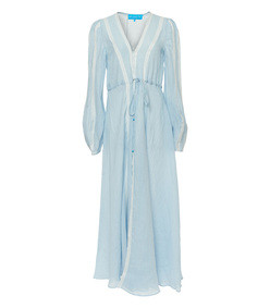 blue victoria longsleeve maxi cover up