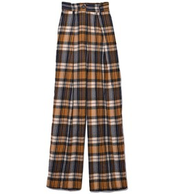 wool tartan pants in ambra