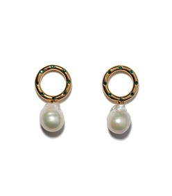 gold seaside pearl earrings