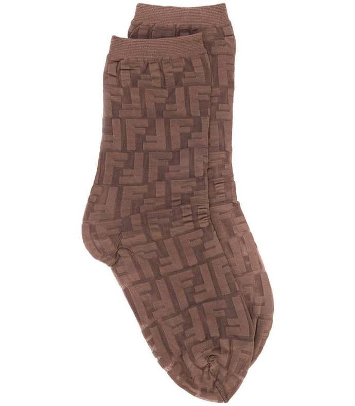 sheer ff motif socks