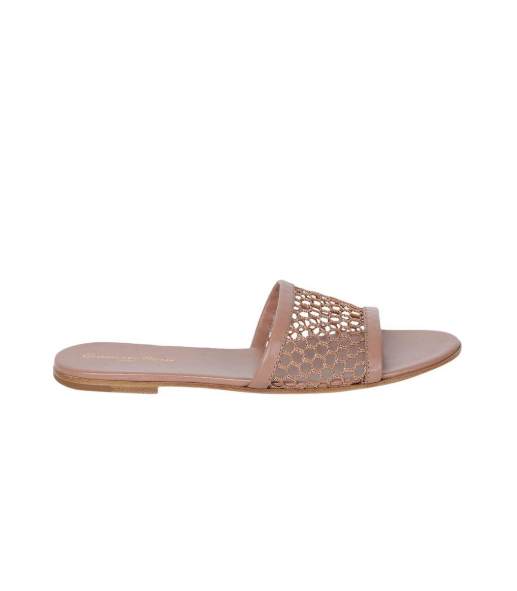 Gianvito Rossi Beige Praline Slip-on Sandal