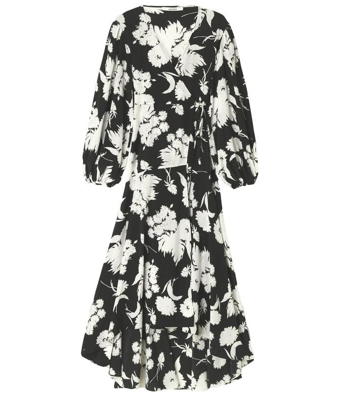 kochhar wrap dress in black