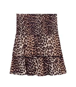 leopard printed georgette skirt