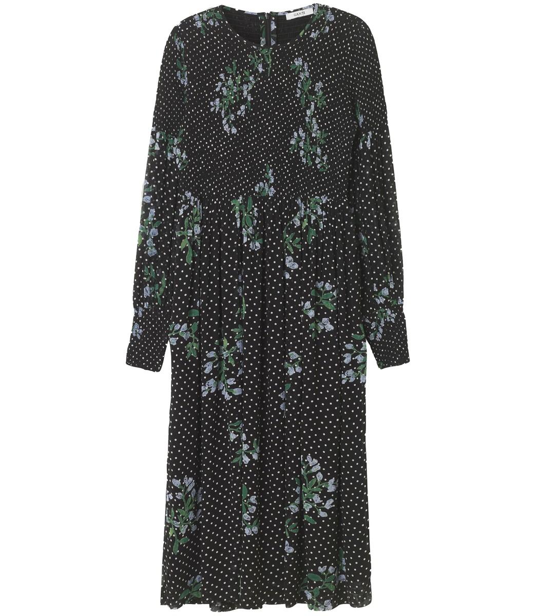 Black Rometty Georgette Dress