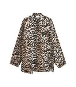 silk mix shirt in leopard