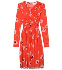 big apple red tilden mesh mini dress