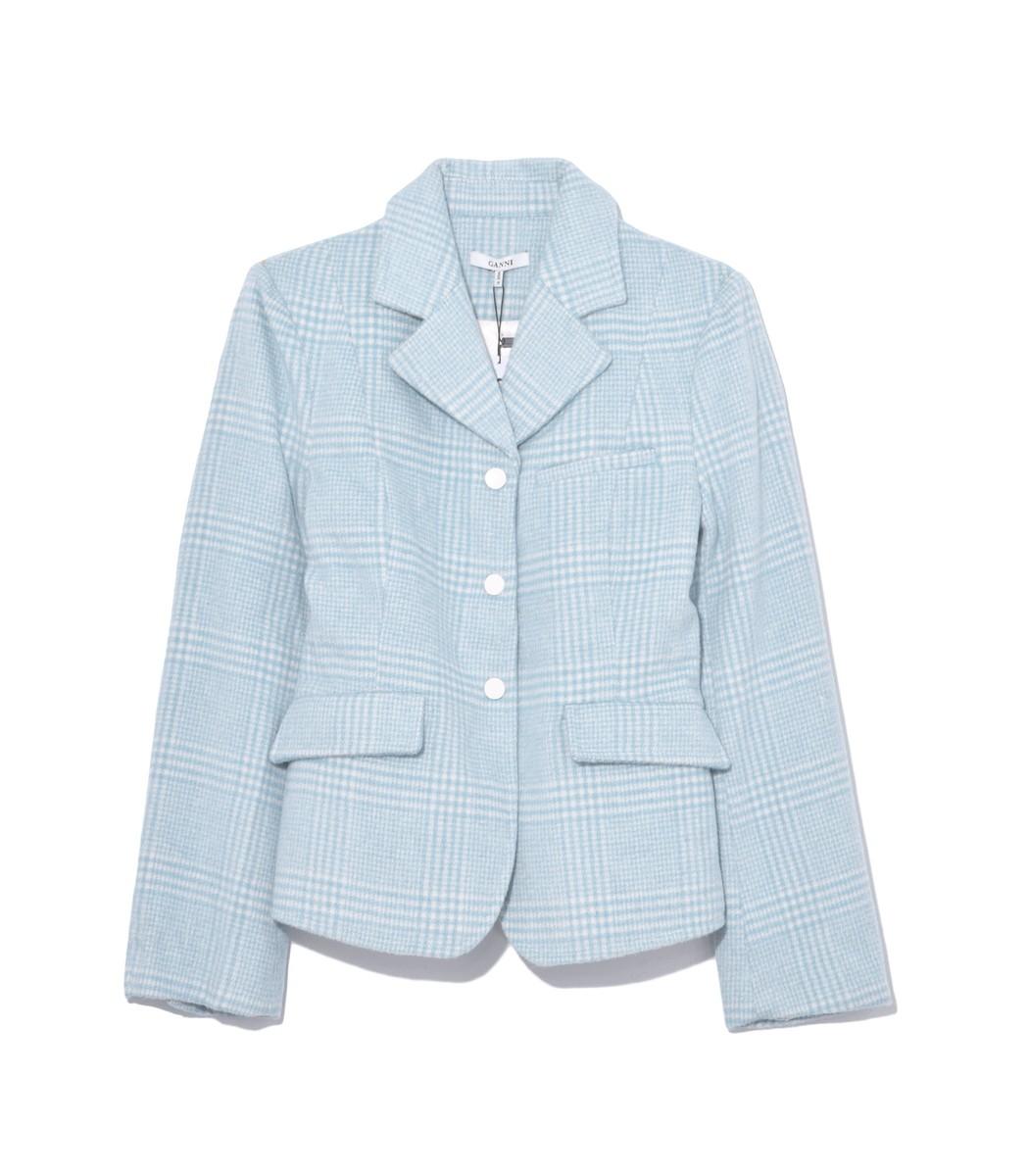 GANNI Woodside Blazer in Serenity Blue