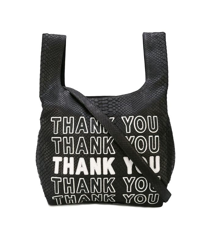 thank you bodega bag in black