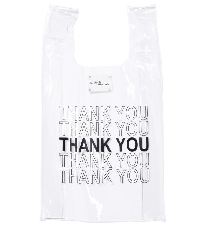 thank you bodega bag in clear