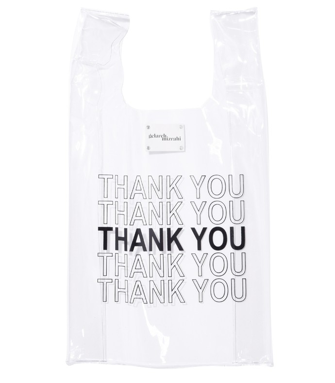 thank you bodega bag in clear