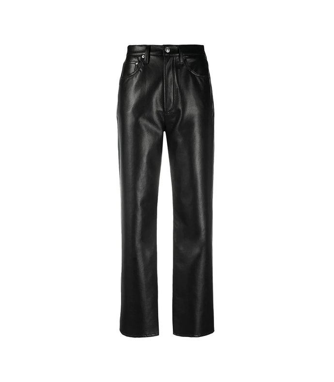 90s recycled leather pants