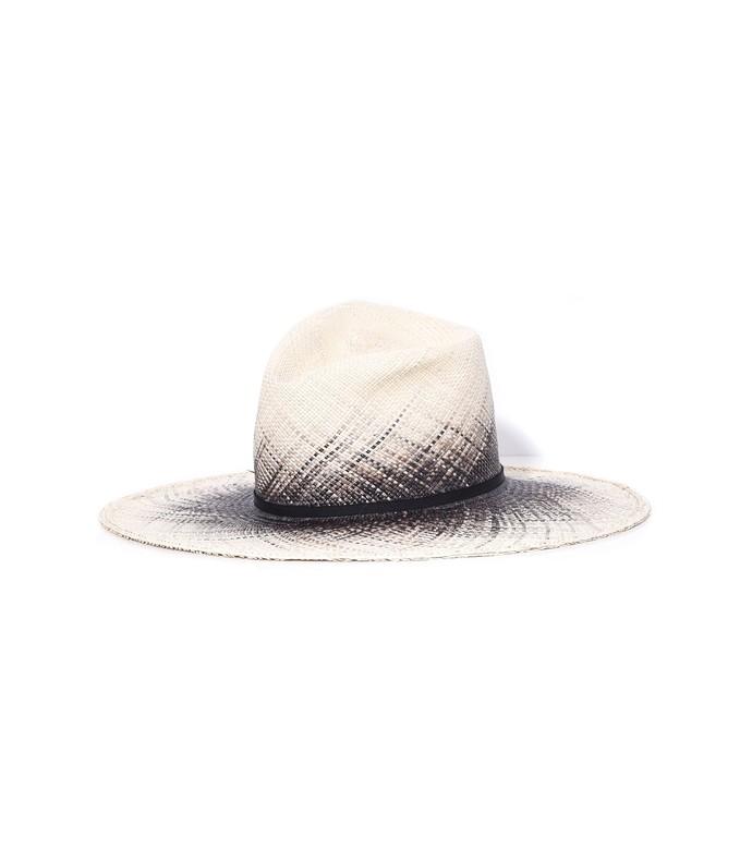 drake hat in natural/black