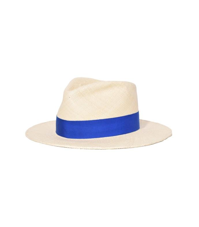ohara hat in natural/blue
