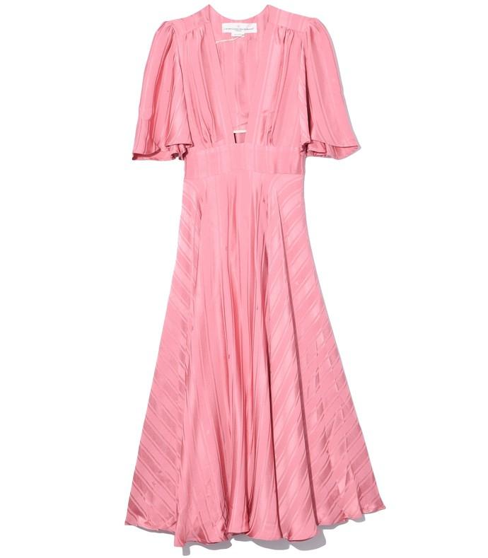 hana dress in dusty pink