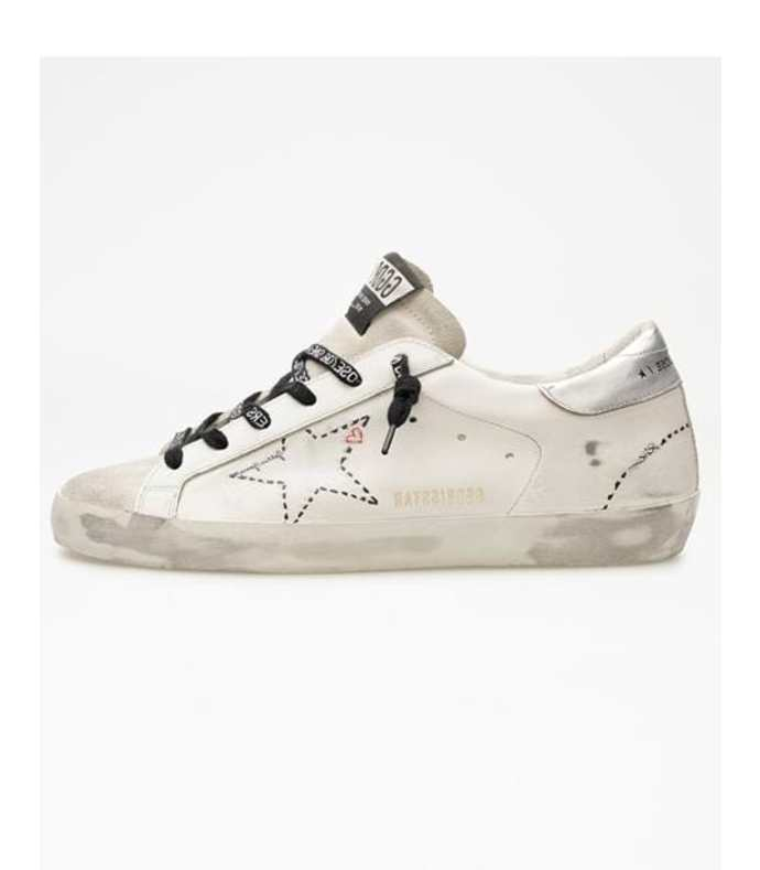 super-star leather dotted star sneaker
