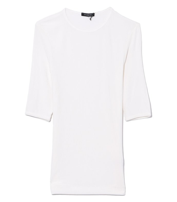 the bound sleeve t-shirt in natural white