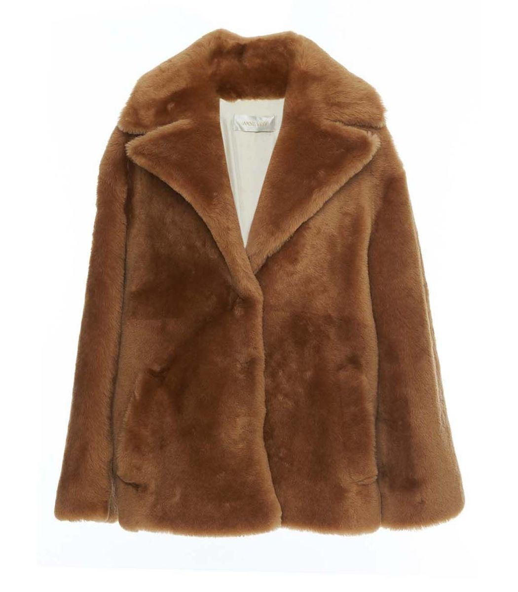 ANNE VEST Brown Shearling Jacket