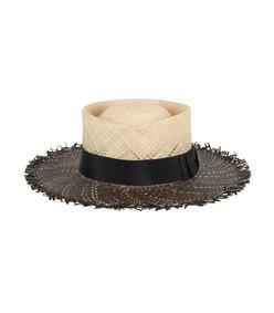 black riviera straw hat