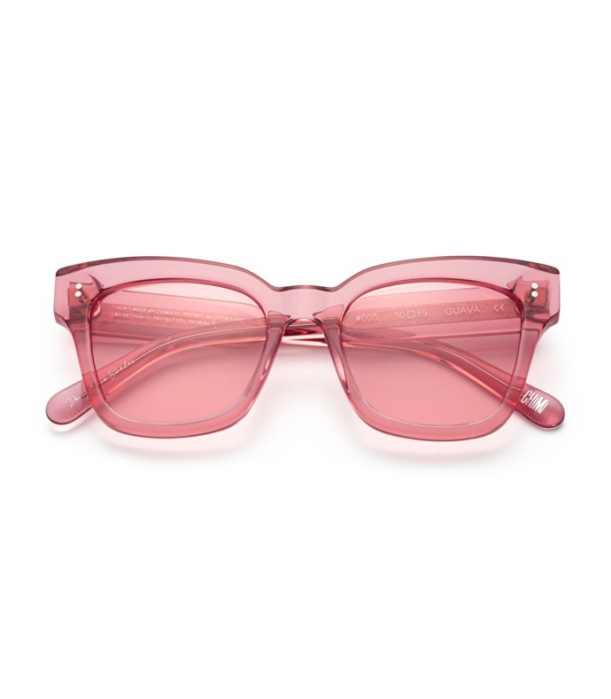 #005 clear sunglasses in guava