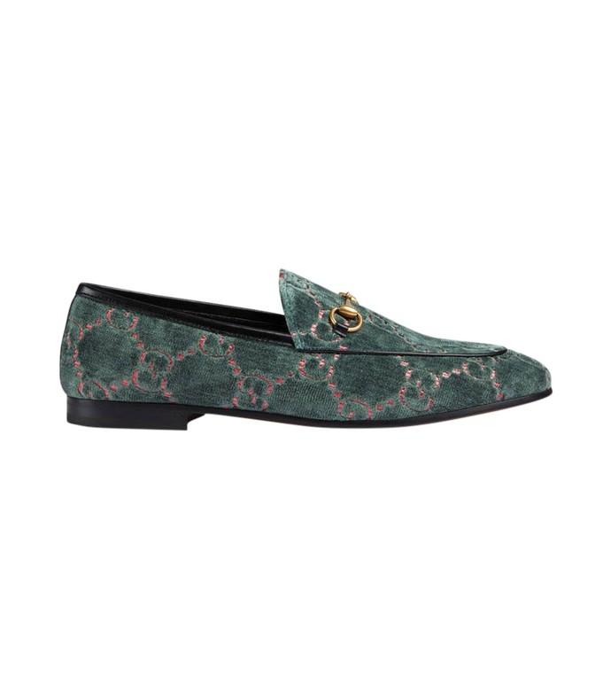 green jordaan gg velvet loafer