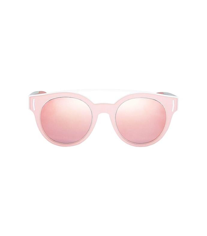 pink/white 50mm round sunglasses