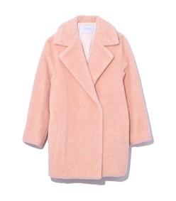 dropped shoulder jacket in blush
