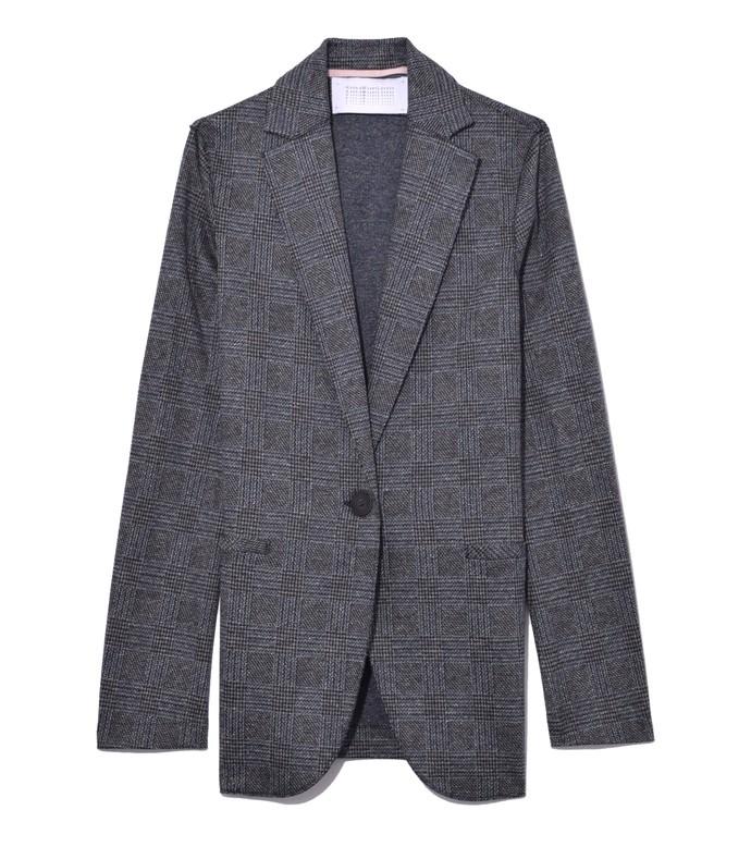 prince of wales boyfriend blazer in middle grey