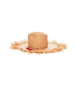 orange seagrass hat