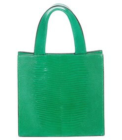 green mini lizard tote bag