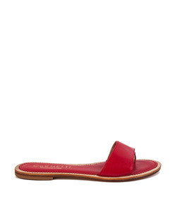 cannucce sandal in red calfskin