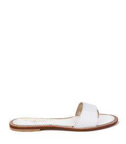 cannucce sandal in white calfskin