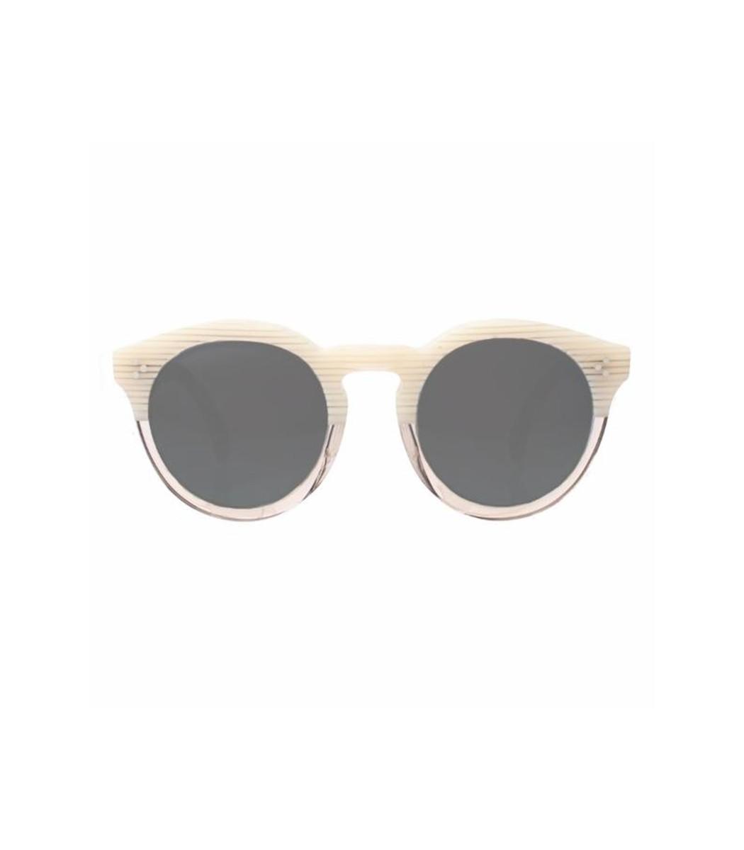 Leonard II Sunglasses in Cream Stripes