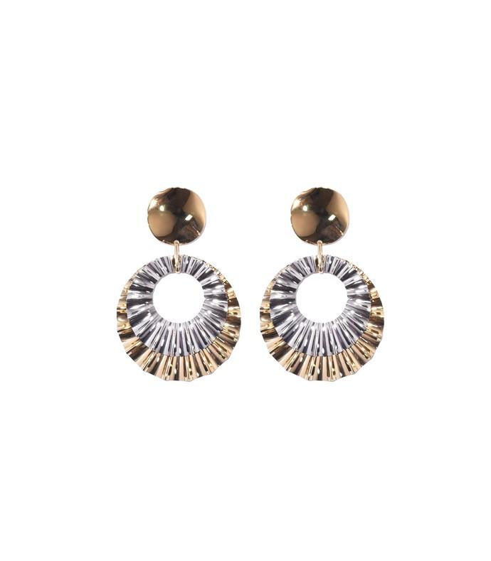 gold big hurt earrings