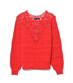 camden pullover in red