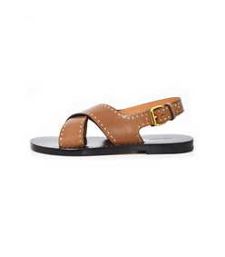brown chestnut jane sandal