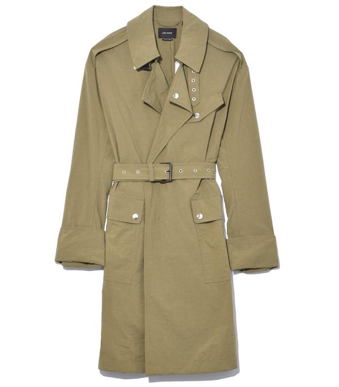khaki leopold coat