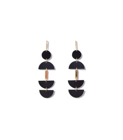black seriously long earring