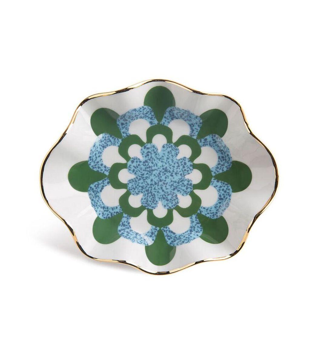 LA DOUBLEJ Blue/Green Bon Bon Dishes (Set of 2)