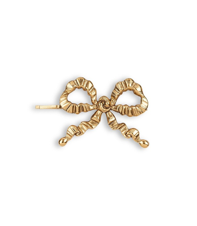 kat bow bobby pin in gold