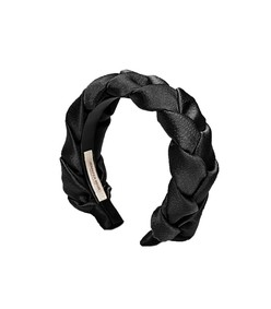 lorelei hammered silk headband in black